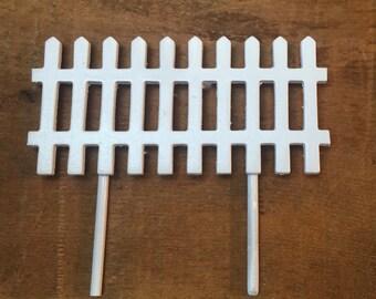 White picket fence, fairy garden accessories, build your own fairy garden kit.
