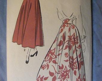 "1950's Vintage Advance Sewing Pattern 4937 Misses' Skirt Waist 26"" Factory Cut"