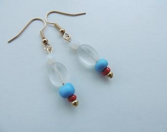 Bead earrings,dangle bead earrings