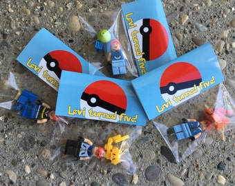 Mini Figure INCLUDED custom pokemon party favor Themed Custom birthday bag