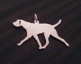 Slovakian Rough Haired Pointer sterling silver silhouette Pendant