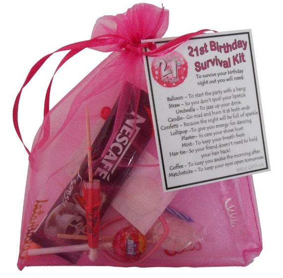 21st Birthday Survival Kit 21st Gift Gift For By SmileGiftsUK