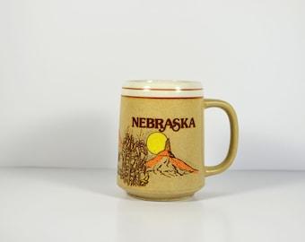 Vintage Ceramic Nebraska Coffee Mug