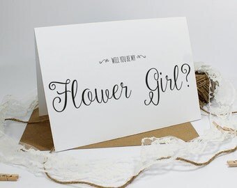 Will you be my Flower Girl? Card - Wedding