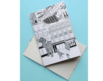 Pooches of Chelsea A6 Notebook