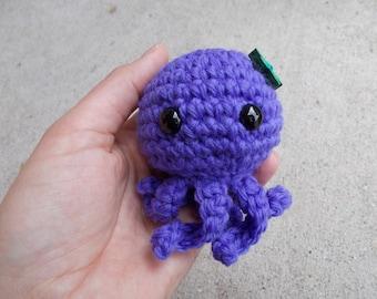 Handmade Octopus Stuffy, Amigurumi Marine Animal Prop, Stuffed Sea Animal, Ocean Photo Prop, Fish Stuffy