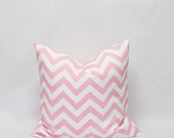 SALE Pink Pillows 22 x 22 Pink chevron pillows Pink and White Zig Zag pillow Decorative Pillow Covers Pink Cushion Covers