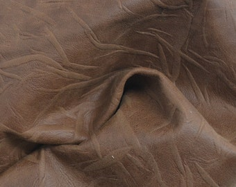 "Medium Brown Creased Leather Cow Hide 8"" x 10"" Pre-cut 1 1/2 ounces TA-39053 (Sec. 4,Shelf 5,C)"