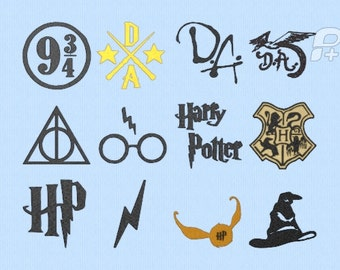 "Harry Potter Design Set 12 Designs 4"" by 4"" hoop"