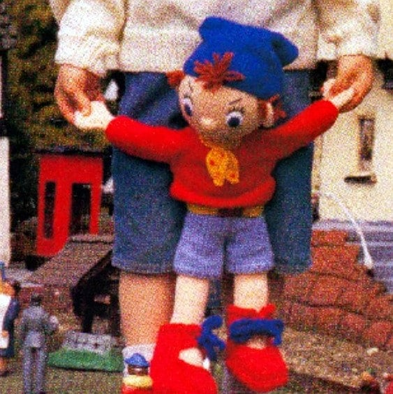 Knitting Pattern Toy Story Characters : Vintage Knitting Pattern PDF Noddy Big Ears Mr Plod Policeman