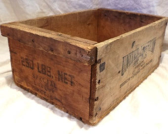 Industrial Parts Bin, Antique Box, Old Wood Crate, American Metals Co., Factory Advertising
