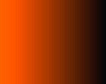 Orange and black Ombre print craft  vinyl sheet - HTV or Adhesive Vinyl -  fade gradient print vinyl  HTV3117