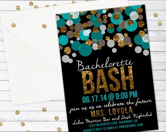 Bachelorette Bash Bachelorette Party Invitation, Bachelorette Weekend, Hen Party - Custom Invitation - DIGITAL -  DIY Printable Invitation