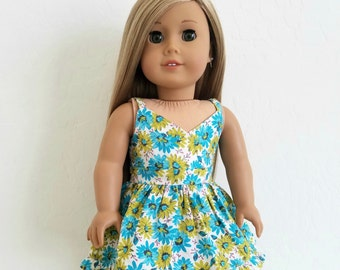 SALE !!! -American Girl Doll Clothes - Floral Sundress