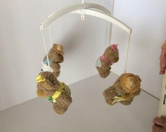 Vintage Teddy Bears Crib Mobile
