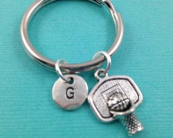 Basketball Keychain, Basketball Charm, Sports Keychain, Gift for Him, Gift for Her, Custom Keychain, Monogrammed Keychain, Initial Keychain