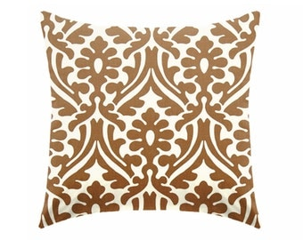 Caramel brown pillow covers, chocolate brown pillows,  decorative pillows, brown pillow, caramel pillow, euro sham