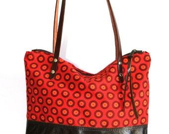 African fabric bag - African print bag - African Tote Bag  SALE