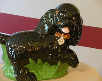 Vintage Ceramic Large Black Cocker Spaniel