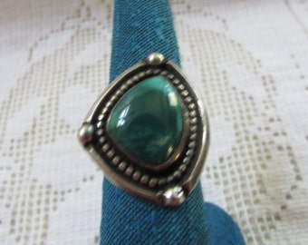 Vintage  Navajo style Native American Indian sterling Royston turquoise ring size 5 1/2