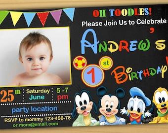 mickey mouse invites  etsy, Birthday invitations