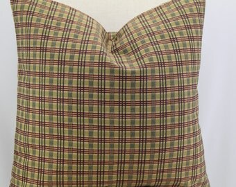 Beautiful 18x18,19x19,20x20, plaid pillow cover,throw pillow,decorative pillow,accent pillow, same fabric front and back