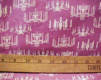 Victorian Vintage Chandeliers on Purple Fabric