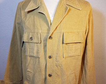 FREE  SHIPPING  1970 Men Corduroy Shirt / Jacket
