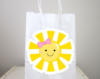 Sunshine Goody Bags, Sunshine Favor Bags, Sunshine Gift Bags, You Are My Sunshine