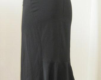Skirt black pencil, sexy, to yoke back