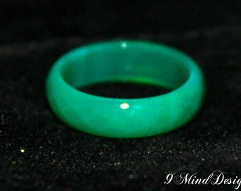 Green & Red Aventurine Ring
