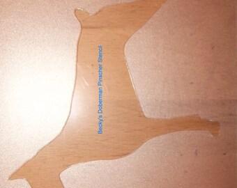 Puppy Bows ~ Doberman Pinscher Dobie  dog breed plastic craft stencil