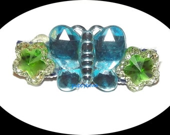 Puppy Bows ~Barrette dog bow flowers butterfly jewels  ~USA seller