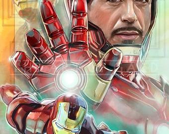Iron Man (Tony Stark) 11X17 Art Print