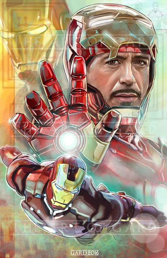 Iron Man (Tony Stark) 11X17 Art Print
