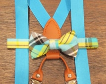 Toddler Bow Tie and Suspenders, Toddler, Toddler Bows, Baby BowTie suspenders, Bow Tie and Suspenders, Suspenders with a Boy Tie For Boy