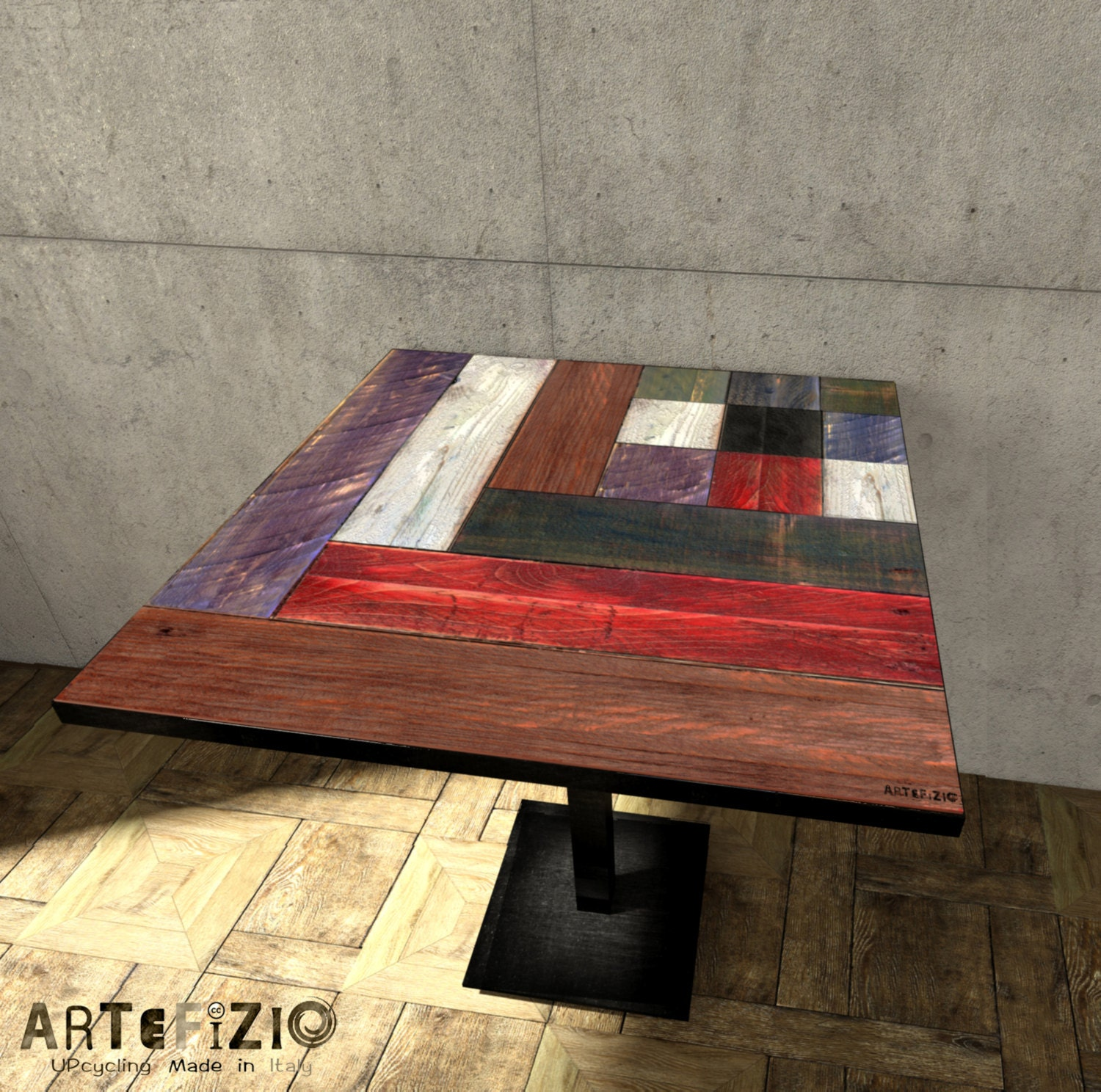 Table tops made of pallets wood recovery A282