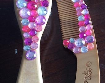Rhinestone Baby Brush and Comb Set