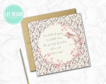Ten Little Fingers New Baby Card