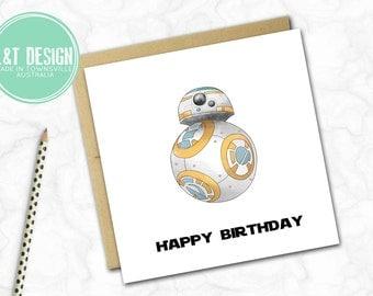 Star Wars Inspired Birthday Card {BB8}
