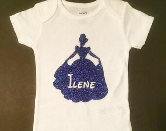 Baby Princess Bodysuit, Personalized Princess Baby Shirt, Infant Bodysuit