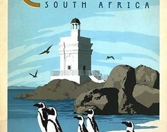 Cape Town South Africa Tourism Poster A3/A2/A1 Print