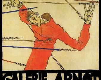 Egon Schiele 1915 Art Exhibition A3/A2 Poster Reprint
