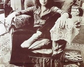 Rare Sepia Photo Portrait Of Marc Bolan T. Rex C.1970 A3 Poster Reprint