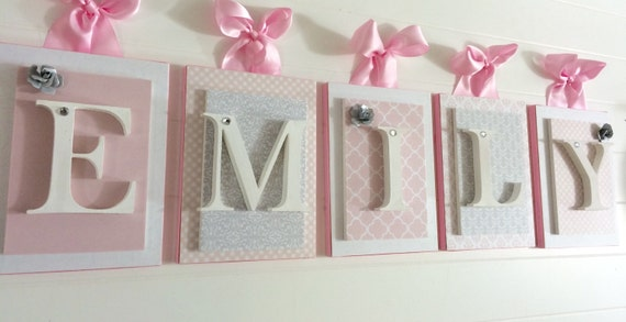 Nursery LettersPink And Gray Nursery Pink And Gray Nursery