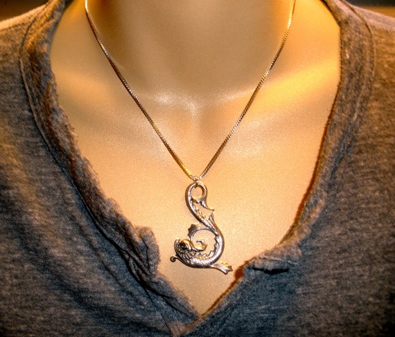 Mens Koi Fish Pendant Necklace Mens Jewelry Necklaces Good