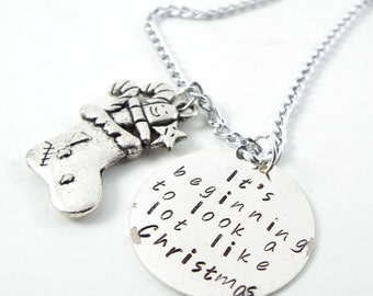 It's beginning to look a lot like Christmas Necklace - Price Reduced! Discontinued Item!