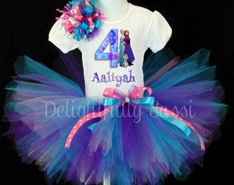 Frozen Tutu Set, Frozen Birthday Tutu, Frozen Birthday, Elsa and Anna Tutu, Olaf Tutu, Frozen Birthday, Girls Tutu, Birthday Tutu, Tutu Set