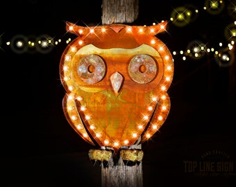 lighted owl marquee sign marquee signs marquee letters logo sign marquee light - Lighted Marquee Letters