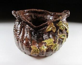 Large 60-70 Year Old Seto-ware Vase